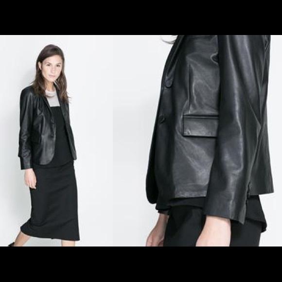 Zara leather jacket, size large